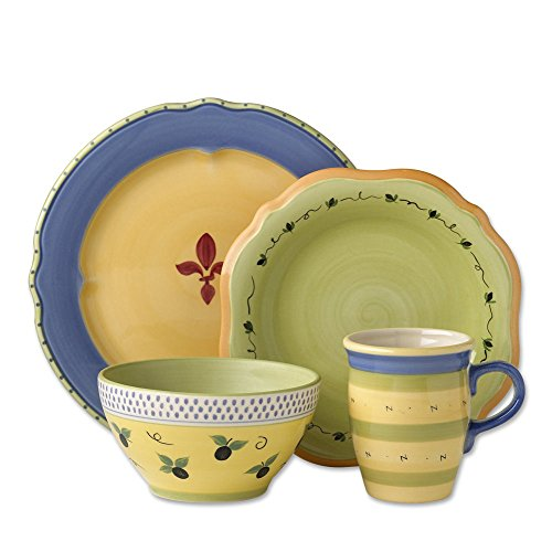 Pfaltzgraff Pistoulet Blue 32 Piece Dinnerware Set, Service for 8