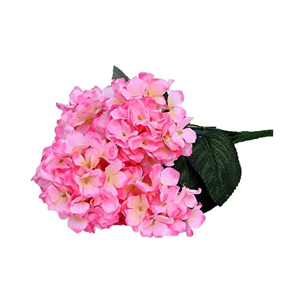 Lopkey 2 Pack- Artificial Head Hydrangea Bouquet Flower Pink
