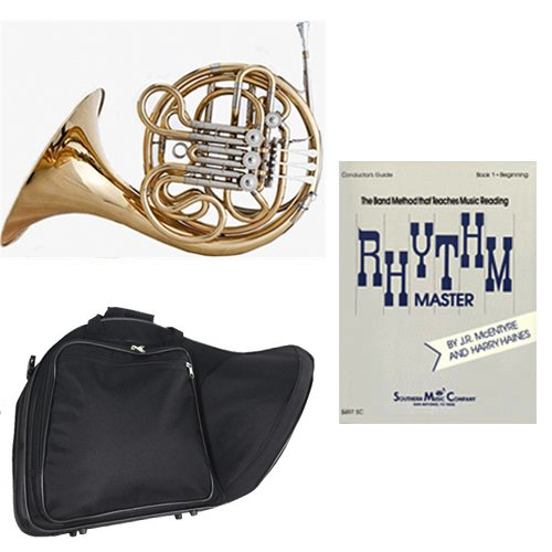 Band Directors Choice Double French Horn Key of F/Bb - Rhythm Master Pack; Includes Intermediate French Horn, Case, Accessories & Rhythm Master Book by Double French Horn Packs