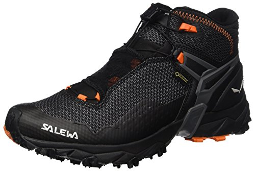 Salewa Men's Ultra Flex Mid GTX Mountain Training Shoe, Black/Holland, 8.5 D(M) US