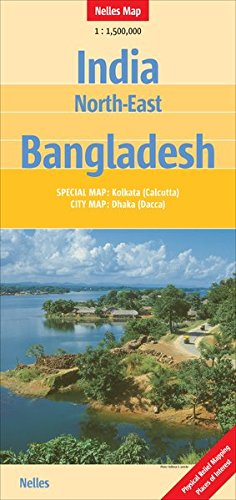 North-East India and Bangladesh Nelles Map (English, French and German Edition)