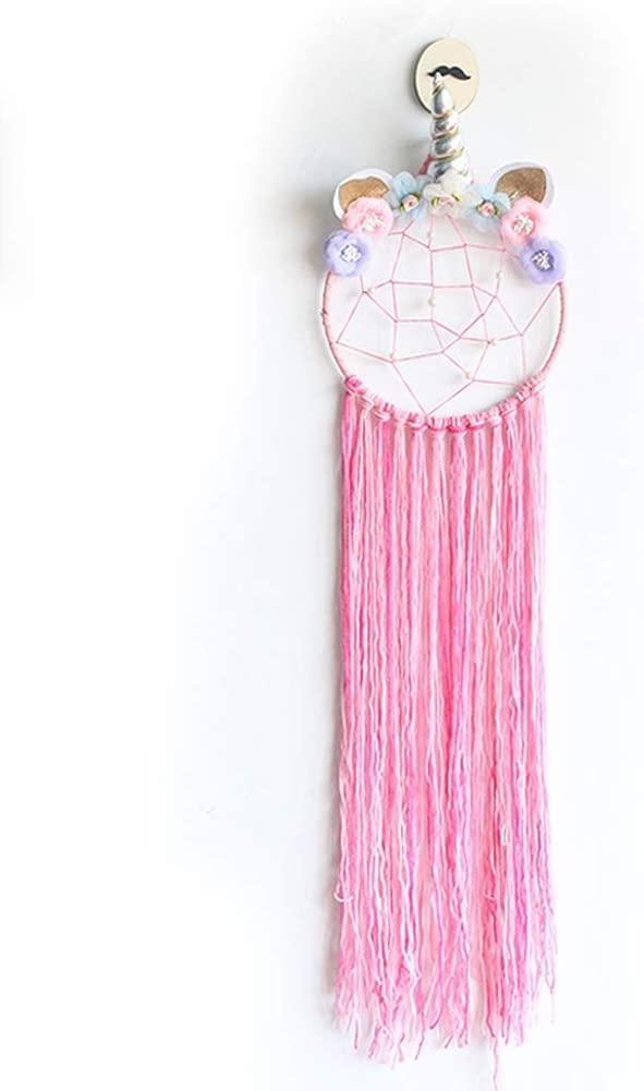 Home Accessories Dream Catcher Wall Decor, Blue Dream Catchers Light Up, Night Light Dream Catcher for Girls Bedroom, Feather Dream Catcher Home Decoration, Unicorn Wind Chimes Hanging Ornaments Chic