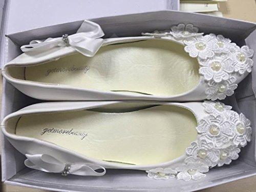 GetmorebeautyUpdate - Sandalias con cuña mujer Blanco - blanco