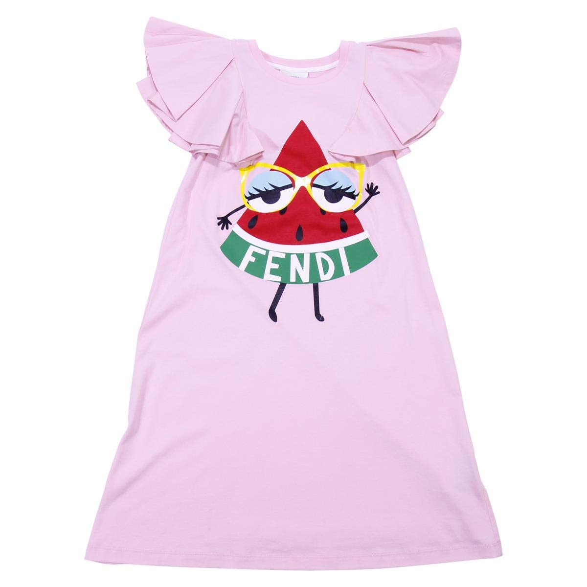0be2273d63d6 Fendi Girl Pink Cotton Dress Mod. JFB1687AJF0QD1 6 A  Amazon.co.uk  Clothing