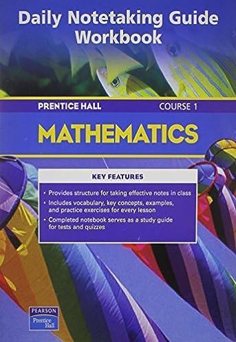 amazon com prentice hall math course 1 daily notetaking guide 2004c rh amazon com McDougal Littell Geometry Notetaking Guide McDougal Littell Geometry Notetaking Guide