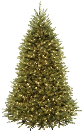 (National Tree 7 Foot Dunhill Fir Tree with 700 Clear Lights, Hinged (DUH-70LO))