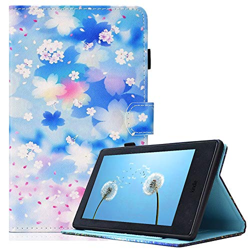 Fire Hd Petals - Billionn Case for Amazon Fire HD 10 (7th Gen/ 5th Gen, 2017/2015 Release) Cute Slim PU Leather Soft TPU Inner, Stand Smart Cover Auto Wake/Sleep for Kindle Fire HD 10