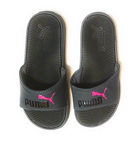 PUMA Womens Pop Cat Athletic Slide Sandals, Grey, 8