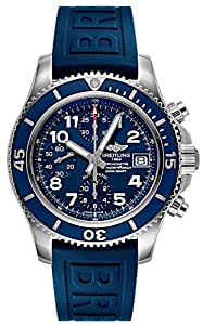 Breitling Superocean Chronograph 42 Mens Watch on Blue Rubber Strap A13311D1/C936-148S