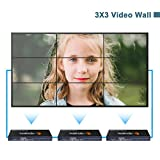 J-Tech Digital ProAV Multi-Channel HDMI VGA AV USB Video Processor 1x4 2x2 (with cascading function supports 3x3 4x4 ··· 10x10) Video Wall Controller