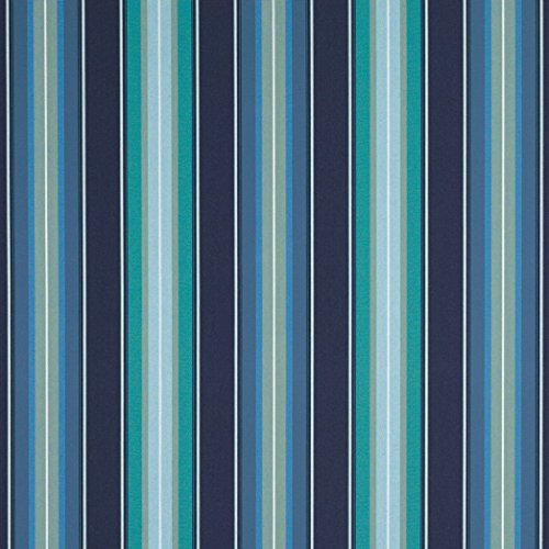 (Sunbrella 46in Awning Stripe Premium 4884-0000 Saxon Cascade Fabric by The Yard )