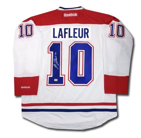 Autograph Authentic AAAJH30126 Guy Lafleur Autographed White Montreal Canadiens Jersey Montreal Canadiens Collectibles