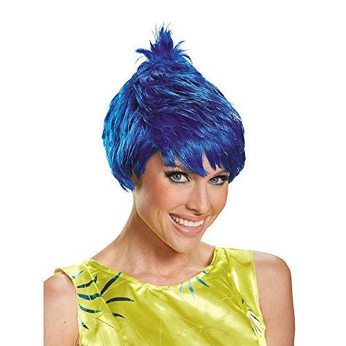Disguise Women's Joy Adult Costume Wig, Blue, One Size ()
