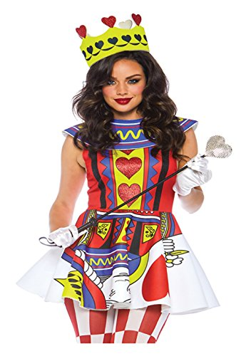 Leg Avenue Womens Card Queen of Hearts Halloween Costume, Multi, Large -