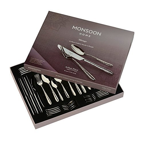 Price comparison product image Arthur Price Monsoon Mirage 44 Piece Cutlery Set by Arthur Price