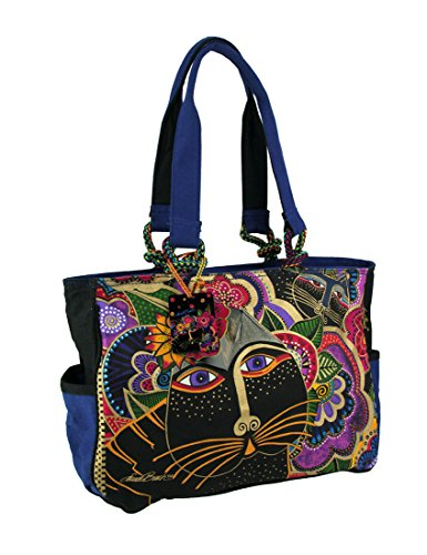 - Laurel Burch Carlotta's Cats Tote (Multi)