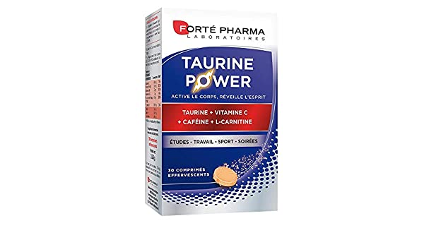 Forté Pharma énergie taurine power 30 comprimés effervescents: Amazon.es: Salud y cuidado personal