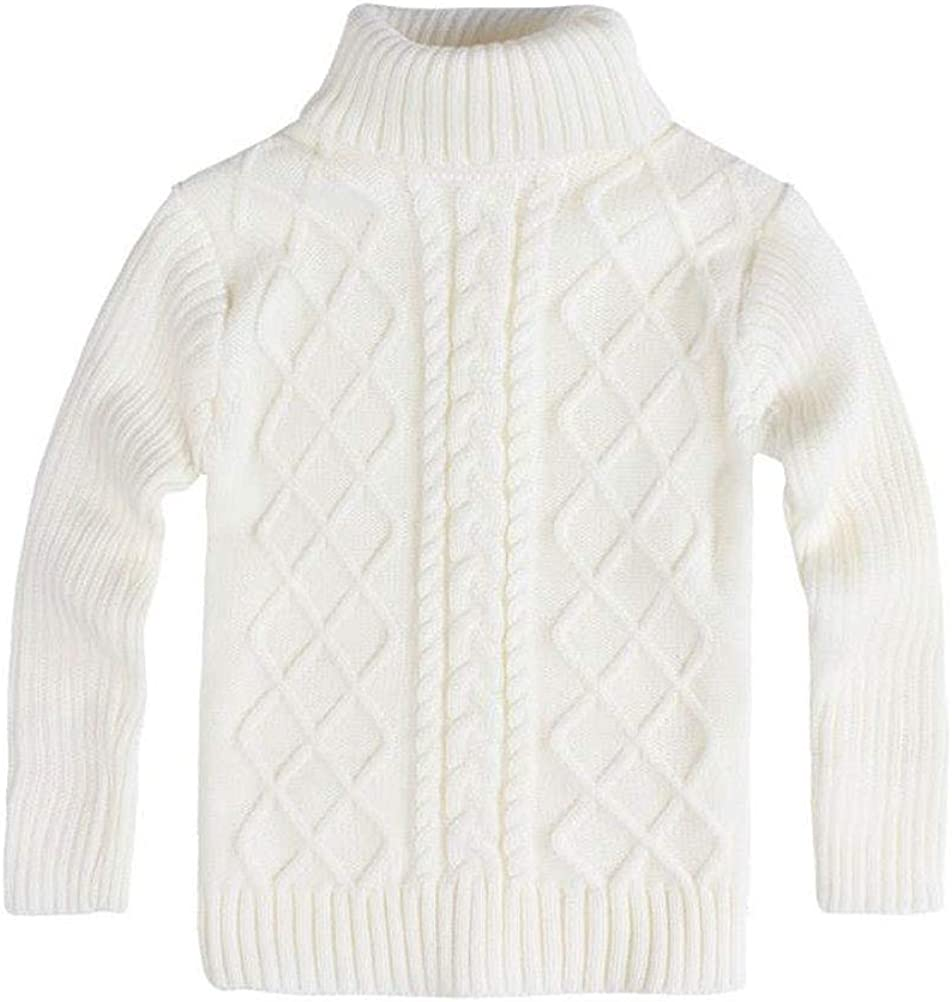 Soojun Boys Winter Cable Turtleneck Sweater with Long Sleeve