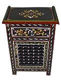 Moroccan Dresser Night Stand Table Arabesque Wood Moorish Hand Painted Handmade Black
