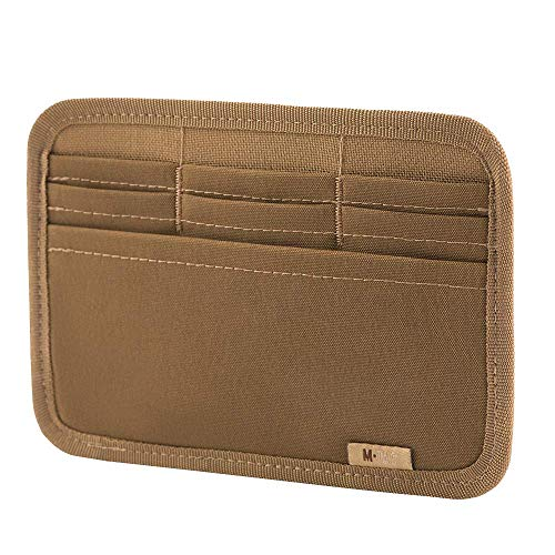 M-Tac Tactical Bag Insert Modular Organizer Utility Admin Pouch Hook Fasteners - Wallet (Coyote Brown)