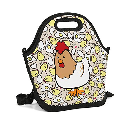 GFHHFFBDF Chicken Cartoon Cooler Thermal School Gift Pretty Backpack Lightweight Large Space Lunch Box Bag for Boys Girls Kids (Best Frozen Chicken Nuggets For Toddlers)