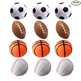 Mydio 24 Pack Mini Stress Balls,Sports Balls for Kids,Party Favor Toy