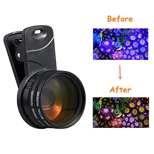1 Set Aquarium Fish Tank Coral Reef Lens Phone Camera Filters Lens + 1 Macro Lens Fish Aquatic Terrarium Accessories Supplies