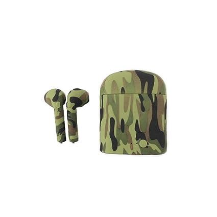 Oplon Auriculares inalámbricos Auriculares Bluetooth Deportes Anti-Sudor para Auriculares con Compartimiento de Carga Auriculares