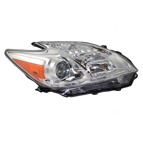 Passengers Halogen Headlight Headlamp Replacement for 2012-2015 Toyota Prius 81130-47520 AutoAndArt