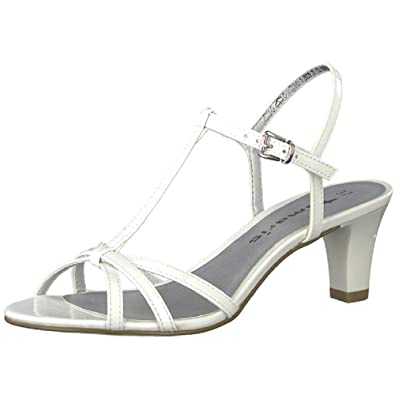 230bcd00aa65 Tamaris Damen Sandalette Aurea - White Patent Gr. 38 EU  Amazon.de  Schuhe    Handtaschen