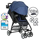 ZOE XL1 DELUXE Xtra Lightweight Travel & Everyday Umbrella Stroller System (London Navy)