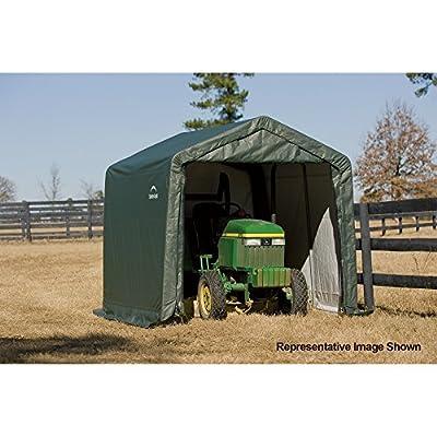ShelterLogic Peak Style Shed/Storage Shelter - Green, 16ft.L x 10ft.W x 8ft.H, Model# 72824
