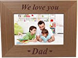 Best CustomGiftsNow Classics Evers - We Love You Dad - Engraved Wood Picture Review