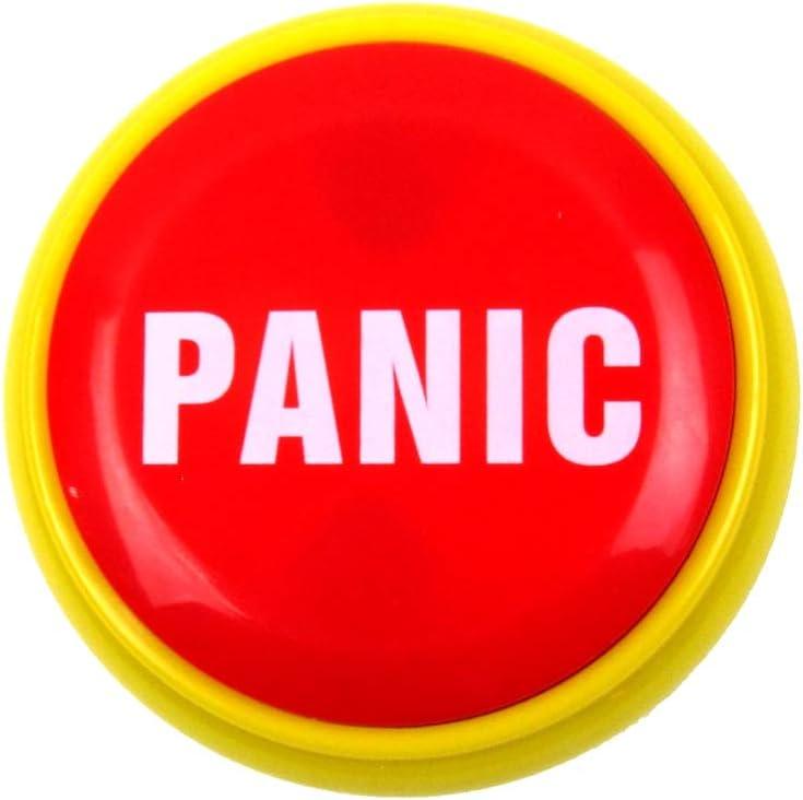 TG,LLC Treasure Gurus Funny Panic Button Practical Joke Alarm Office Desk Prank Novelty Gag Gift