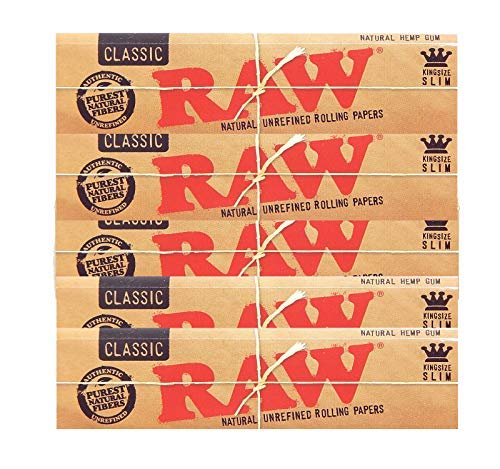 Raw Classic King Size Slim Rolling Paper 5 - Papers Rolling Smoking