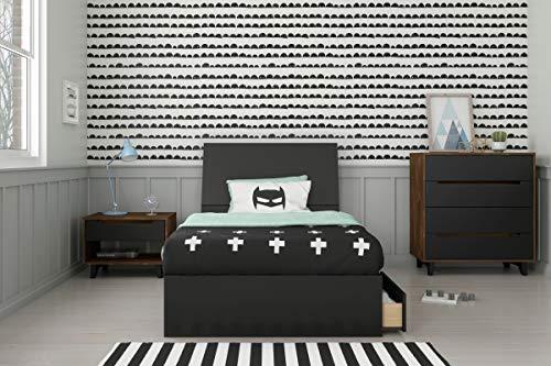 Nexera Aston 4 Piece Twin Size Bedroom Set, Truffle & Black
