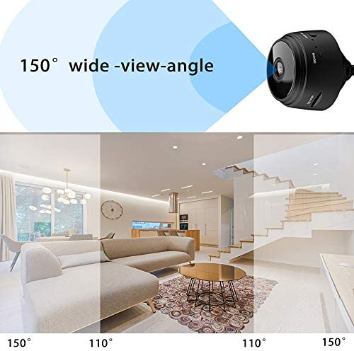 Mini Camera WiFi Small Wireless Full HD 1080P Video Camera with 32G SD Card, Portable Tiny Nanny Cam with Night Vision Motion Detection for Office01