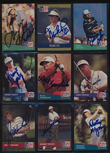 Pro Set Golf Card (1991 Pro Set Golf lot of 202 cards all Autographed JSA Authenticated 47148 Graded - Autographed Golf Cards)