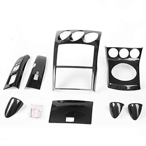Carbon Fiber Dashboard Panel (AT) Shifter Console Set For Nissan 350Z Z33  03-05