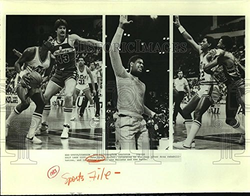 - Vintage Photos Historic Images 1983 Press Photo Utah Jazz Basketball Center John Drew - sas06877-9.25 x 11.75 in