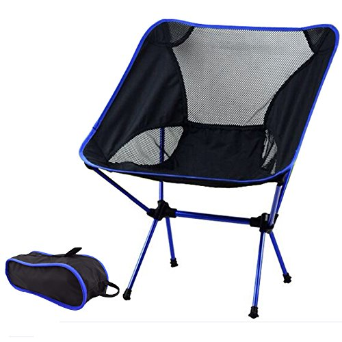 Hi Suyi Portable Lightweight Heavy Duty Folding Outdoor Picnic Beach Travel Fishing Camping Chair Stool Backpacking Chairs,Durable 600D Thicken Oxford Cloth,Sturdy Aluminum Alloy Frame,with Carry Bag (Picnic Stool)