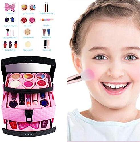 23セット プリンセス 子供用化粧品 キッズ コスメティック セット バニティメイク 水溶性化粧品 子供の皮膚に刺激を与えません メイクを簡単に取り除く 小さなレディのシェーピング