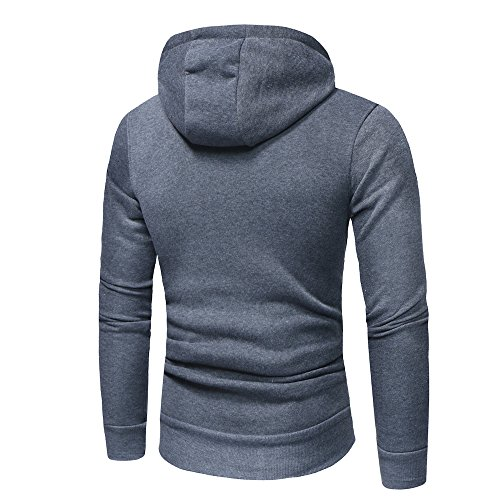 Pullover Sleeve Sweatshirt Men Outwear Moginp Autumn Gray Style Solid Jumper Dark Top Casual Winter Jacket Long Hoodie Hooded USxqxC7w