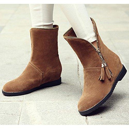 Donalworld Women Suede High Heel Martin Ankle Boot Pt7 xVU9YBgOcH