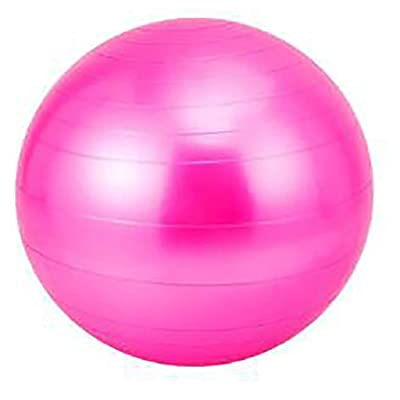 Nihewoo Yoga Ball Exercise Ball Pregnancy Birthing Anti Burst Core Ball Anti Burst and Slip Resistant Balls Gym Ball (Hot Pink): Clothing