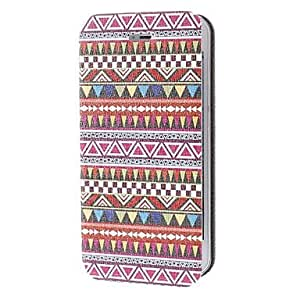 Colorful Geometry Pattern Leather Full Body Case for iPhone 5/5S