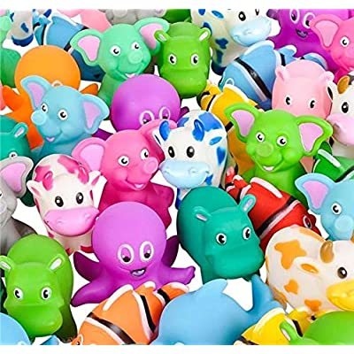 """72 PC 2"""" Rubber Animal Mix : Baby"""