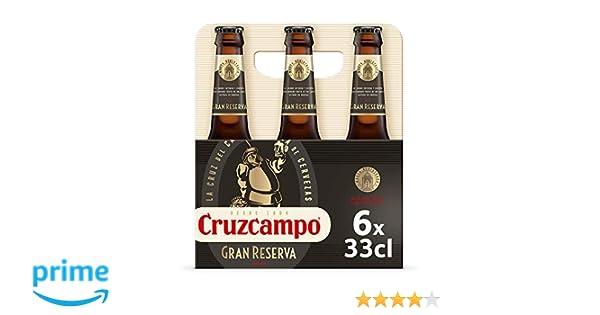 Cruzcampo Gran Reserva Cerveza - Pack de 6 Botellas x 330 ml ...
