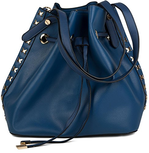 styleBREAKER set de bolsos de hombro con decoraciones de remaches de metal laterales, bolso de bandolera, bolso para compras, bolso, de señora 02012164, color:Gris claro azul