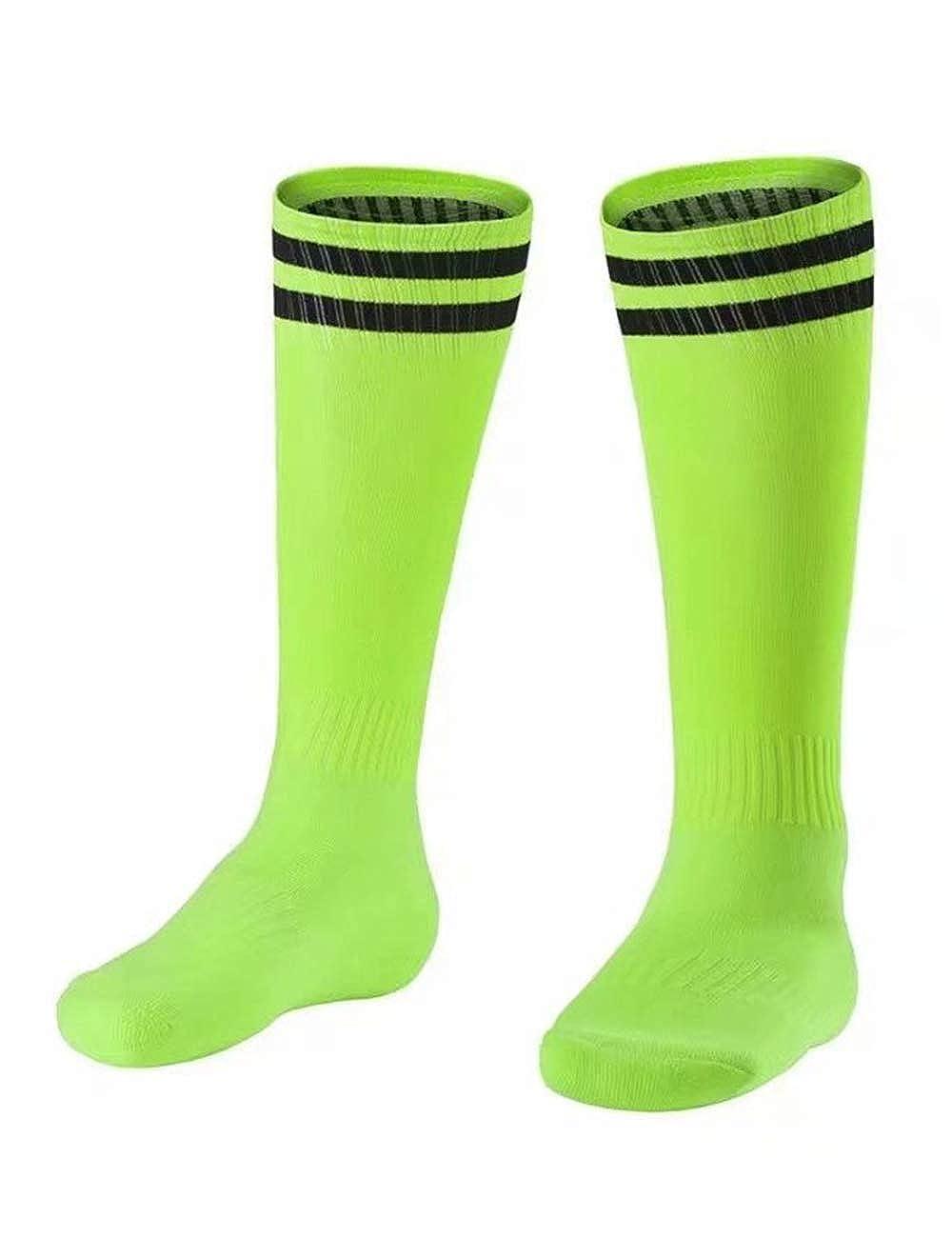 besbomig Boys Football Tracksuits Kids Breathable Sports Uniform Jerseys Short Sleeve T-Shirts /& Shorts /& 1pair High Knee Socks Teamswear Sets